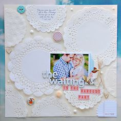 The Waiting is the Hardest Part by TamiG at Studio Calico Scrapbook Albums, Scrapbooking Layouts, Scrapbook Cards, Studio Calico, Crafts To Do, Paper Crafts, Diy Crafts, Scrapbook For Best Friend, Mini Albums