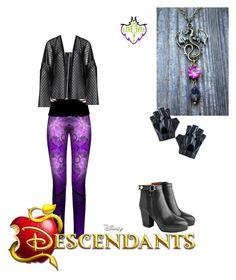 """descendants mal"" by maria-calinaa on Polyvore featuring Acne Studios, Disney, Maxima and Balmain"
