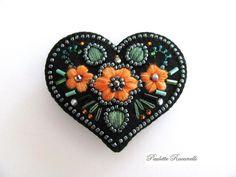 Etsy Transaction - Felt Heart Pin / Embroidered Heart Brooch