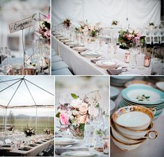 The clear-top tent makes for a special scenic atmosphere; vintage finds completed the sweet decor. Phoenix Bride and Groom, Arizona Wedding, Flagstaff, Hollye Schumacher Photography, Events by Showstoppers,  #wedding #vintage #tent