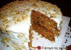 Αμερικάνικο Κέικ Καρότου με Γλάσο Τυριού