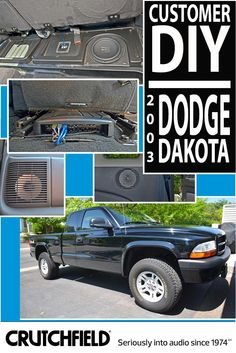 Tracy gave his 2003 Dodge Dakota a subtle (but substantial) audio upgrade with Crutchfield gear.