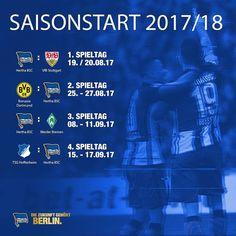 Unser Startprogramm in der neuen Saison. Was sagt ihr zu den Gegnern? #hahohe #bundesliga