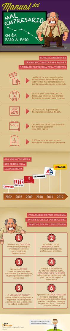 Manual del mal empresario: guía paso a paso #infografia #infographic #entrepreneurship