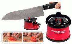 Knife Sharpener Pengasah Pisau dan Gunting   Kini telah hadir inovasi terbaru alat pengasah pisau dan gunting Anda, KNIFE Sharpener. Alat unik kecil ini, bisa mengasah semua jenis pisau dan gunting, tidak memerlukan waktu banyak, praktis efisien dan hemat biaya. Can Opener, Canning, Shop, Home Canning