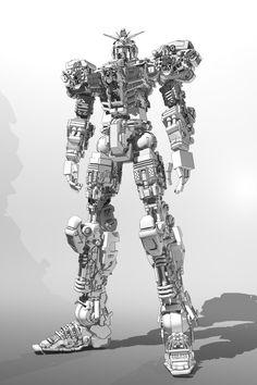 Gundam modelling_made wifh 3dsmax