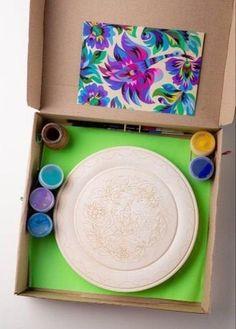 DIY Kits for Adults Ukrainian Samchykivka folk Art Painted Diy Kits For Adults, Hobby Kits, Hand Painted Plates, Plate Art, Wooden Art, Jewelry Making Tutorials, Glass Christmas Ornaments, Diy Crafts To Sell, Art For Kids
