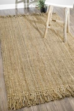 Maui Chunky Loop Rug | Casual Rugs #RugsUSA the only jute rug I've found so far that seems cozy enough to put in the parlor to let the baby crawl on!