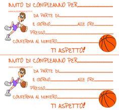 inviti di compleanno pallacanestro