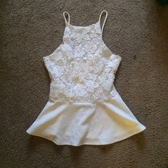 Please offer this must go!!! ⚡️MUST GO ASAP PLEASE FEEL FREE TO MAKE OFFERS!!!!⚡️ Charlotte Russe brand, beautiful white summer blouse. NEVER ACTUALLY WORE THIS. Took the tags off and realized it was too big. please no offsite offers or trades Charlotte Russe Tops Blouses