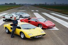 Lamborghini Countach and Valentino Balboni