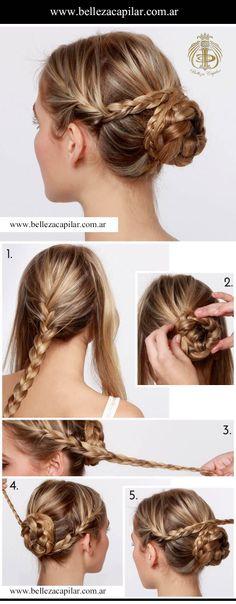 Un peinado simple y romántico para cualquier ocasión. Christian Diaz by. Belleza Capilar www.bellezacapilar.com.ar