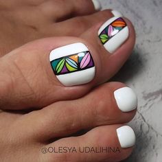 Pedicure Designs, Pedicure Nail Art, Toe Nail Designs, Toe Nail Art, Cute Toe Nails, Dope Nails, Pretty Pedicures, Pretty Nails, Elegant Nail Art