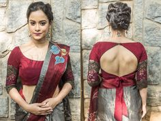 Looking for lace blouse designs for sarees? Here are our picks of 10 trending blouse models that will make you flaunt this blouse with style. Blouse Back Neck Designs, Brocade Blouse Designs, Saree Blouse Patterns, Fancy Blouse Designs, Bridal Blouse Designs, Saree Wearing Styles, Latest Saree Blouse, Stylish Blouse Design, Blouse Models