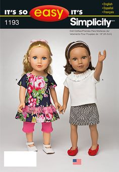 "Simplicity Creative Group - It's So Easy Clothes for 18"" Doll"