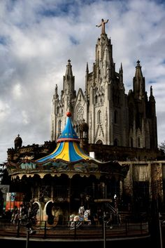 Tibidabo, Barcelona. One of the prettiest places I've been