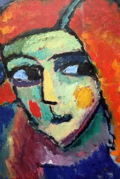 Alexej von Jawlensky (Russian, 1864–1941), Pale Woman with Red Hair, 1911–12