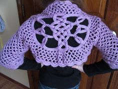 I needto figure out how to crochet a celtic knot. Anyone have a tutorial?  Celtic Knot Crochet: Lilac Shrug with Celtic Knot