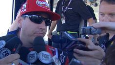 Busch tight-lipped after meeting in NASCAR hauler -  March 18, 2017:  Kyle Busch meets with NASCAR officials and Joey Logano at Phoenix Raceway after their scuffle at Las Vegas
