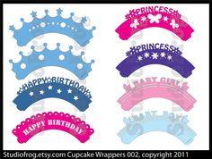 Cupcake Wrappers SVG Bundle 002 - Updated. $2,25, via Etsy.