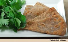 A recipe for an Italian-style flatbread, a piadina, made in part with acorn…