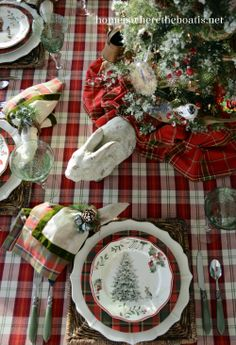 Mad about Plaid table
