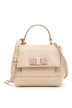 a4385c1623 SALVATORE FERRAGAMO SAFFIANO CARRIE BAG.  salvatoreferragamo  bags  shoulder  bags  leather  lining