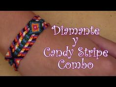 Pulsera de Hilo: Diamante y Candy Stripe Combo - YouTube