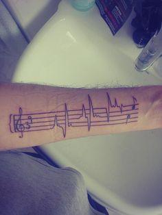 heartbeat and music tattoo - Αναζήτηση Google