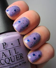 These nail colors are like small spring blooms in the midst of a long, cold winter. From Sirena Sparklestar