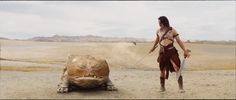 John Carter with his devoted calot, Woola. (From the film John Carter).
