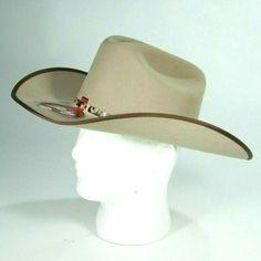 9922bf81f0026 New Bailey Mens Tan 4X Angora Macklin Wool Blend Cowboy Hat Size 7 1 4