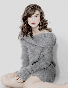 Keira Knightley (wow I want that sweater though)