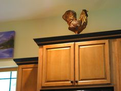 Rustic Rooster Kitchen Charm, Chainsaw Sculpture | Sleepy Hollow Art
