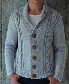Patrones de Tejido para hombre en Ingles Knitted Coat Pattern, Sweater Knitting Patterns, Coat Patterns, Clothing Patterns, Daily Fashion, Mens Fashion, Knitwear, Men Sweater, Crochet