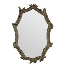 Faux Bois Mirror for Enchanted Woodland Fairy Girl's room by Living Lullaby Designs #fairyroom #livinglullaby
