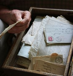 The wonder of discovering and reading old letters.