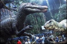 Jurassic Park III's full-size Spinosaurus comes to life at Stan Winston Studio. The animatronic T-rex killer makes film history. T Rex Jurassic Park, Jurassic Park World, Michael Crichton, Spinosaurus, Thriller, Jurassic Movies, Science Fiction, Dinosaur Images, The Good Dinosaur