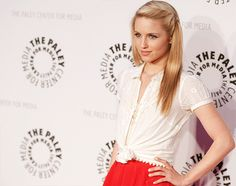 Glee! Gorgeous! -- I love the combination of red & white, especially when it is on Dianna Agron. Love her!