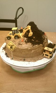 Excavation Birthday Cake I did for little Jack!