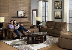 Shop for a Holman Ridge Brown 3 Pc Reclining Living Room at Rooms To Go. Find Reclining Living Rooms that will look great in your home and complement the rest of your furniture.