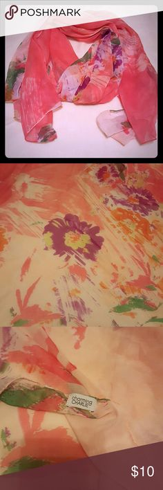 Like new Scarf Like new Charming Charlie floral scarf. Beautiful print. Light weight, sheer material. I took off the tag so I don't know what material it is.   Smoke free home  Reasonable offers considered  No trades Charming Charlie Accessories Scarves & Wraps