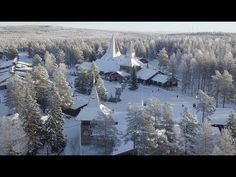 Winter arrives in Santa Claus Village in Rovaniemi in Lapland