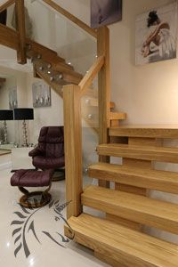 X-Vision oak and glass staircase Modern Staircase Glass oak Staircase XVision Loft Staircase, Timber Staircase, Oak Stairs, Staircase Makeover, House Stairs, Staircase Ideas, Staircase Glass, Staircase Spindles, Oak Handrail