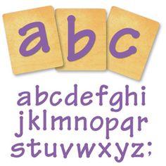 Ellison SureCut Die Set - Lollipop Alphabet, Lowercase Letters - 4 Inch