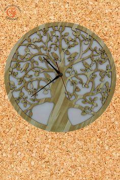 Lebensbaum Uhr  Baum des Lebens aus Holz  Graviert Laser Cut Wanddeko Holzdekor Wandbild Dekoration Deko  Symbol der Kosmischen Ordnung Geschenk zum Geburtstag Hochzeit Muttertag Weihnachten Baum des Lebens