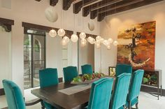 Velvet Dining Chairs in 20 Sophisticated Dining Rooms