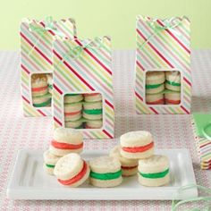 Christmas Sandwich Cremes Recipe from Taste of Home. -- From Walkerton, Ontario, Janice Poechman sent in the recipe for these melt-in-your-mouth sandwich cookies with a scrumptious filling.