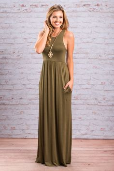 """Play By The Rules Maxi Dress, Olive"" You may not play by the rules but this maxi does! It follows all the rules on how to make you look great this fall! It has an elastic waist to flatter your already amazing figure!  #newarrivals #shopthemint"