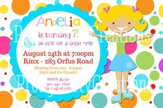 ROLLER SKATE party invitation  YOU print  by PrettyPartyCreations, $11.00